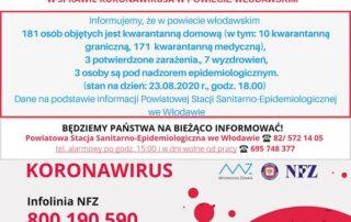 Komunikat w sprawie koronawirusa z 23.08.2020r.