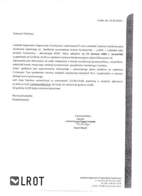 Zaproszenie na szkolenie LROT
